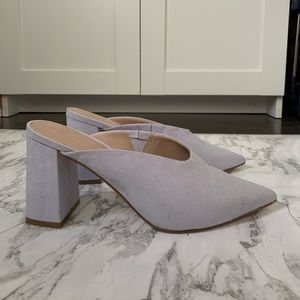 ASOS lilac mules, size 7 US